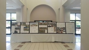 The AIBD Texas Society's exhibit in the lobby of Houston Community College.