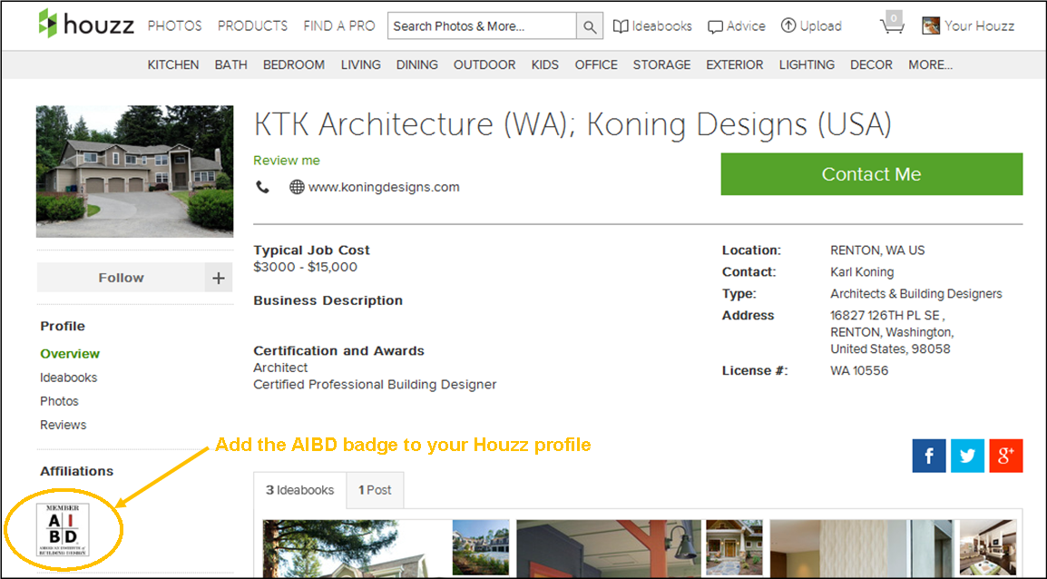 AIBD Houzz badge example
