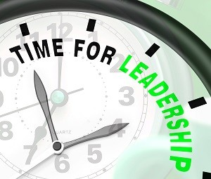 Time For Leadership Message Showing Management And Achievement